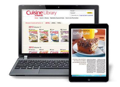 Cuisine at home Back Issue Library ONLINE